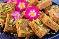 Indian Sweet -milk cake Royalty Free Stock Photography
