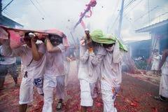 Festival vegetariano 2014 di Phuket fotografia stock
