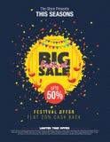 Festival-Verkaufs-Schablone Lizenzfreies Stockbild