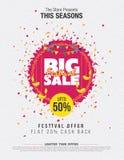 Festival-Verkaufs-Schablone Stockfotografie