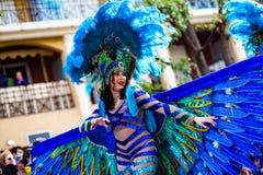 Festival 2019, via Carnaval, tema fantastico dei mondi, ritratto del limone di Menton dell'artista fotografie stock libere da diritti