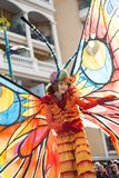 Festival 2019, via Carnaval, tema fantastico dei mondi, ritratto del limone di Menton dell'artista fotografia stock