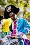 Festival 2019, via Carnaval, tema fantastico dei mondi, ritratto del limone di Menton dell'artista immagine stock