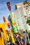 Festival 2019, via Carnaval, tema fantastico dei mondi, ritratto del limone di Menton dell'artista fotografie stock