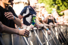 Festival visitors Royalty Free Stock Images
