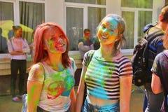 Festival von Farben Holi in Tula, Russland Stockfoto