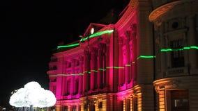 Festival von Lichtern, Bukarest 2015 stock video footage