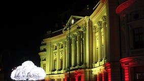 Festival von Lichtern, Bukarest 2015 stock video