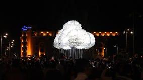 Festival von Lichtern - Menge stock video footage