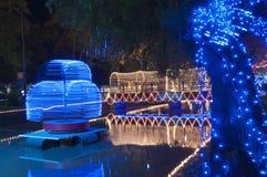 Festival von Lichtern - sich hin- und herbewegendes Licht Stockbild