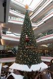 Festival-Weg-Weihnachtsbaum-Dekorationen in Hong Kong Lizenzfreies Stockfoto