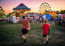 At the Festival Royalty Free Stock Photo