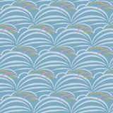 Japanese Grass Wave Pattern stock photography