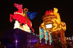 Festival y templo de linterna chino del Año Nuevo 2013 justos Foto de archivo libre de regalías
