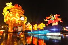 Festival y templo de linterna chino del Año Nuevo 2013 justos Imagen de archivo libre de regalías
