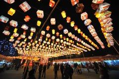 Festival y templo de linterna chino del Año Nuevo 2013 justos Imagen de archivo