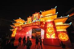 Festival y templo de linterna chino del Año Nuevo 2013 justos Fotografía de archivo libre de regalías
