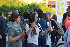 The festival of youth subcultures and cosplay Royalty Free Stock Image