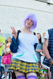 The festival of youth subcultures and cosplay Stock Image