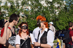 The festival of youth subcultures and cosplay Royalty Free Stock Photo