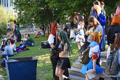 The festival of youth subcultures and cosplay Stock Photos