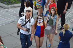 The festival of youth subcultures and cosplay Royalty Free Stock Photos