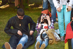 The festival of youth subcultures and cosplay Stock Images