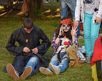 The festival of youth subcultures Royalty Free Stock Image