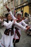 festival2 folklore prague Royaltyfri Foto
