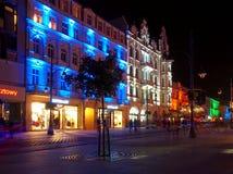 FestivalberlockPiotrowska gata Arkivbild