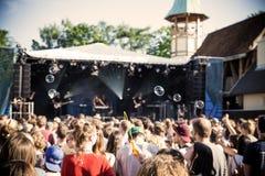 Festivalbezoekers Stock Foto