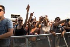 Festivalbezoekers Royalty-vrije Stock Afbeelding