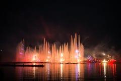 Festivalcirkeln av ljus Roddkanalen Arkivbilder