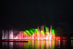 Festivalcirkeln av ljus Roddkanalen Royaltyfria Bilder