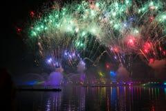 Festivalcirkeln av ljus Roddkanalen Arkivfoton