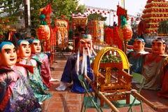 Festivalen av templet i Taiwan i Asien Royaltyfria Bilder