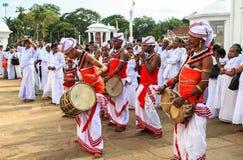 Festivalen av vallfärdar i Anuradhapura, Sri Lanka Arkivbilder