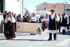 Maskerar av Sardinia Arkivfoto