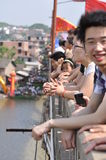 Festivalen för drakefartyg Royaltyfri Bild