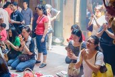 Festivalen för nio kejsaregudar i Ampang Arkivbilder