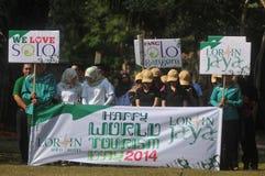 Festivalen firar världsdagturismen i Indonesien Arkivbild