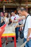 Festivalen för nio kejsaregudar i Ampang Arkivfoton