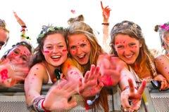 Festivalen luftar åskådare Royaltyfri Bild