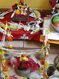 Festivaler av Indien, tempel, Puja Decoration arkivbilder