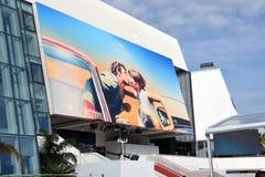 Festivaler för fasadPalais des av Cannes under filmfestival royaltyfri foto