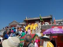 Festivaler för MiaoFeng bergfolk arkivfoto
