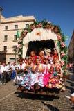 Festivales - el peregrinaje del EL Rocio Imagenes de archivo