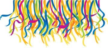 Festivalfarbbänder stock abbildung