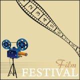 festivalfilm vektor illustrationer