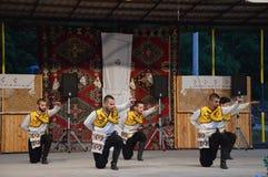Festivalfolklore des International 10 in Lukavac 9 7 2016 Lizenzfreie Stockfotos